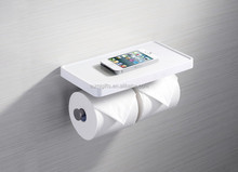 cheap phone shelf with roll holder bathroom accessory