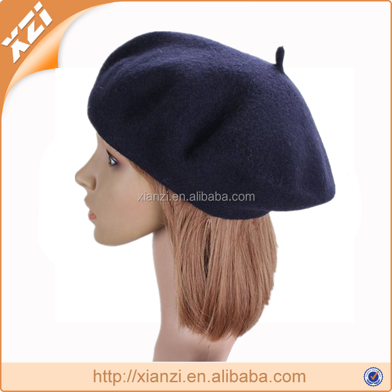 Wool Material winter knitted beret hat
