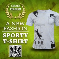 Fashion sport wear - all over sublimation printing t shirt