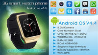 Wholesale Smart Watch with SIM card 3G WCDMA Android 4.4 Watch Phone