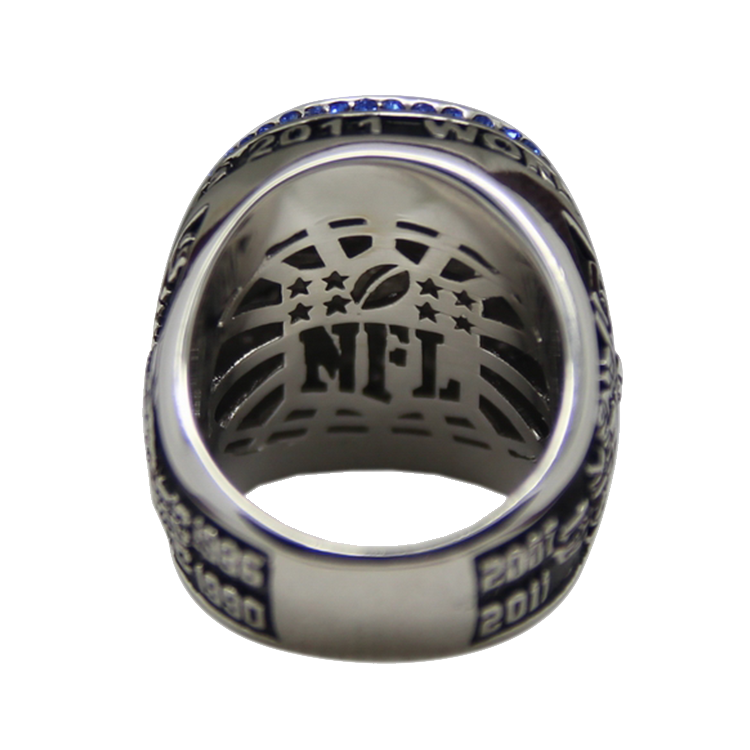 High Quality Wooden Box Fans Best Gift Custom Design Replica Football Championship Ring Size 10-13