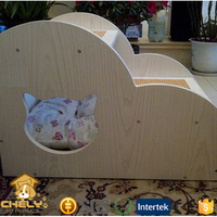 Cheap Handmade Luxury Wooden Cat Bed Pet Bed With Stair Pet Beds & Accessories