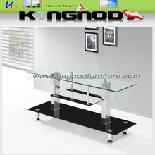 Tempered glass tv stand with cheap price TV unit design furniture