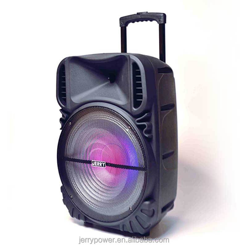 speaker box with wheels and battery for outdoor party