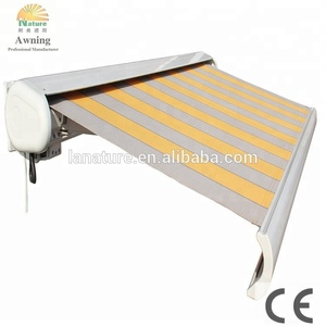 full cassette retractable beach awning/awnings for garden and beach with LED