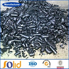 Solid coal tar pitch manufacture