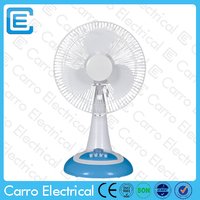 Promotional 12 inch 12v solar dc table fan 12v hand fan stand with full copper motor