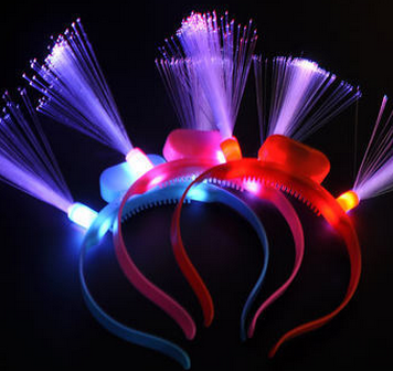 factory whollesale children adult Light Up LED Fiber Optic Head Boppers