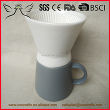 High quality Food safety ceramic porous coffee dripper and jug set