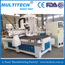 heavy duty magnetic drilling and milling machine cnc router with 2 air cylinder spindle + 1 drilling spindle