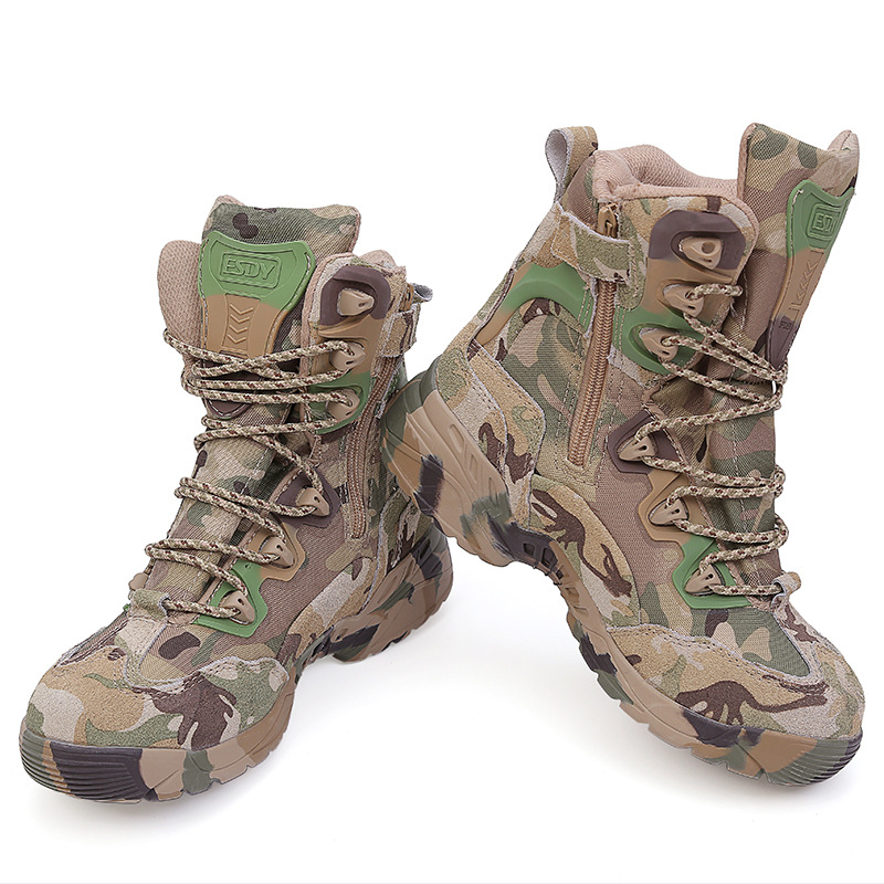 plus size military camouflage tactical boots military desert Combat boots Muliti Camo Outdoor mountain military boots
