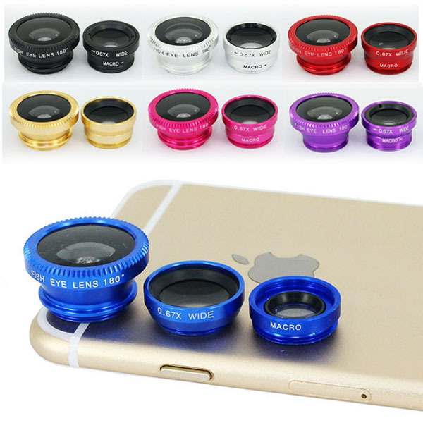 Universal Mobile Phone Camera Lens Clip Set fish eye lens for cell phone camera