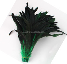 Wholesale Dyed Black Cock Rooster Tail Feather For Constumes