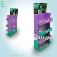 Custom printing book floor tiers display, magazine rack wood