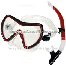 2013 New design Adult's professional siilicone fashionable diving mask & snorkel