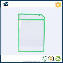 Professional custom a3 clear plastic document folder waterproof document bag