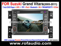 Rofaudio special car dvd navigation for Suzuki Grand Vitara with TV