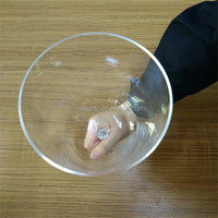 Clear Hand-held Crystal Singing Bowls