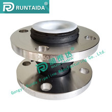 SS304 flange forged teflon ptfe rubber expansion joint compensator