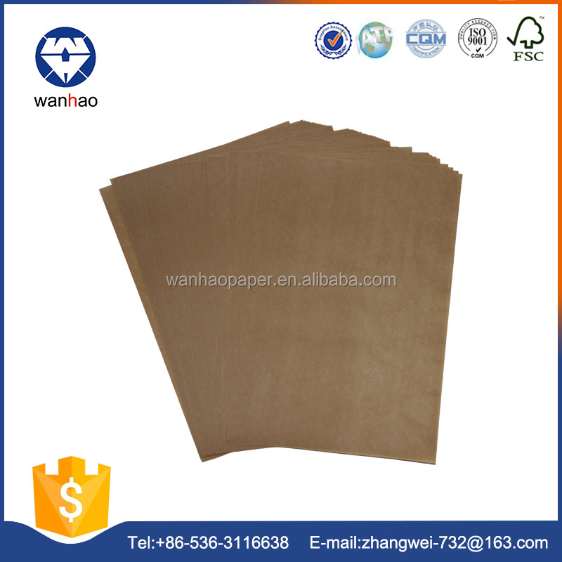 Liner greaseproof brown bag food tray paper
