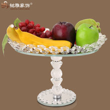 Manufacturer supply high quality crystal glass fruit plate