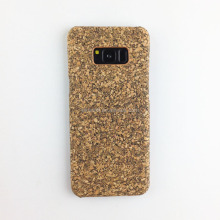 Hot selling mobile phone case cork wood case for Samsung S7, customized cork case phone cover wood mobile for Samsung S8