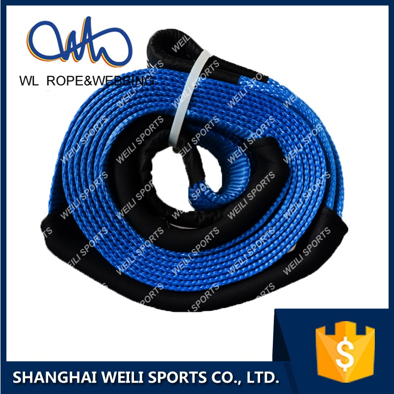 (WL STRAP)emergency towing strap with hooks car tow rope non shrink heavy duty recovery kit