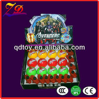 colorful avengers super peg top toy