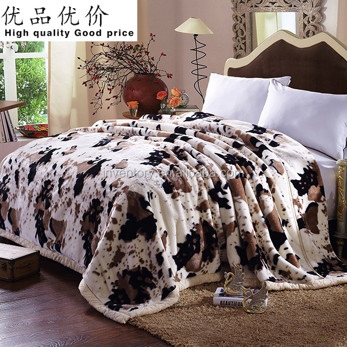100% polyester double thick stock coral fleece blanket