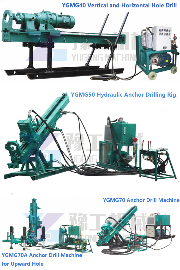 Anchoring machine drilling rig for grouting equipment
