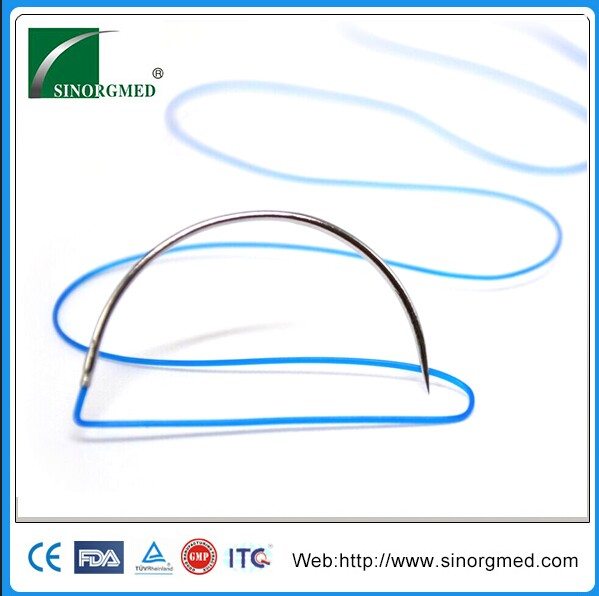 China Manufacturer Medical Monofilament Non-absorbable 8-0 Nylon Suture
