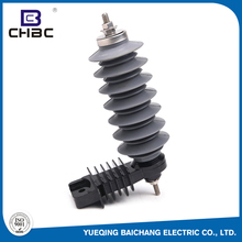 CHBC Polymer Metal Oxide 21KV5KA Safety Type Lightning Arrester With Bracket