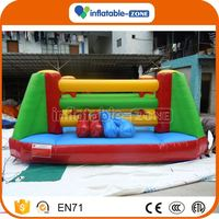 Hot Selling automatic and manual switch bull fighting game base inflatable gladiator sport