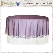 Soft purple organza cheap party decoration western tablecloths