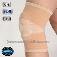 Elastic knee brace with O shape gel pad