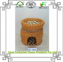 handmade willow pigeon basket