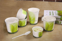 8oz/12oz/16oz/24oz/32oz Biodegradable PLA coated Paper food container with lids
