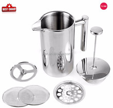 2017 hot sell 304 high quality water pitcher with filter 18/8 stainless steel pot kettle