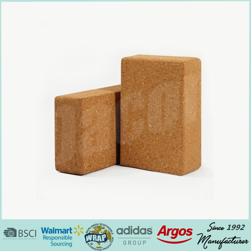 natural cork yoga brick yoga block logo yoga block custom eco