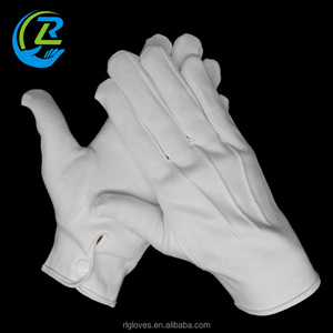 white 100% cotton military tactical hand gloves