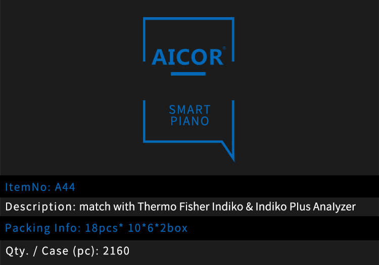 match with Thermo Fisher Indiko & Indiko Plus Analyzer