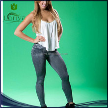 OEM service blue tights women leggings looks like jeans