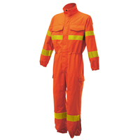 high performance poly-cotton wildland fireman suit with UNI EN ISO 15614