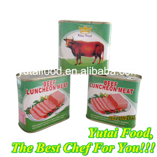 Food Grade Tin Can Beef Luncheon Meat Wholesale Ready to Eat Food