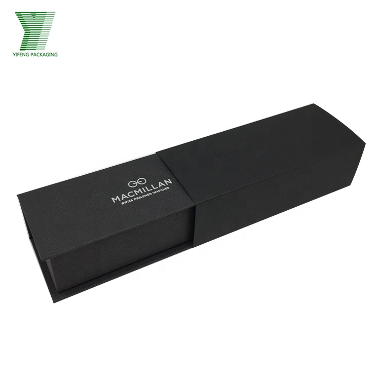 Handmade elegant black watch box,jewelry box with foam insert