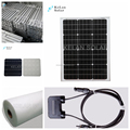60 Watt Mono Solar Panel 17.5V Power Voltage Black Roof Tiles For Home