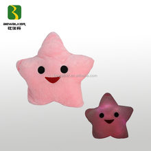 Popular Pink Star Shape LED Light Pillow Luminous Pillow