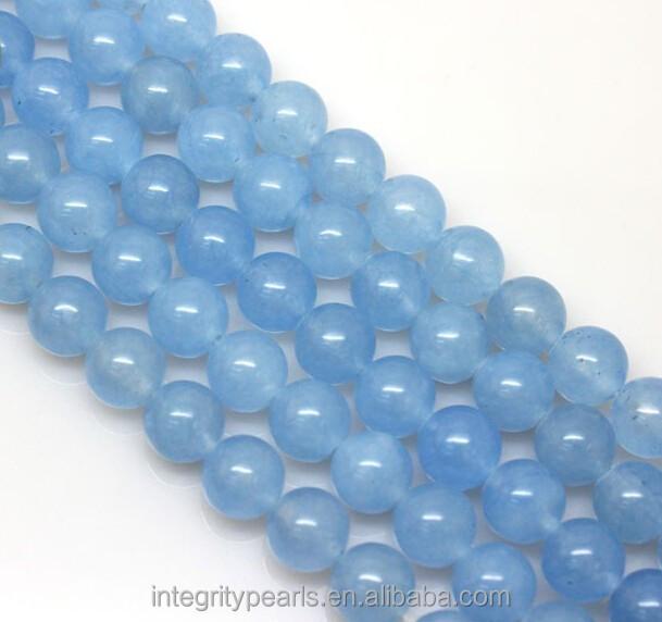 8 mm bleu clair tendance premi res ronde naturelle calc doine semi pr cieuse pierre cha ne. Black Bedroom Furniture Sets. Home Design Ideas