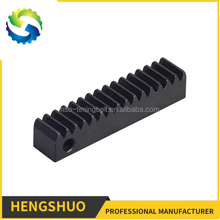 2017 HENGSHUO custom 45 steel gear rack and pinion gearing manufacturer tooth shape flat bars