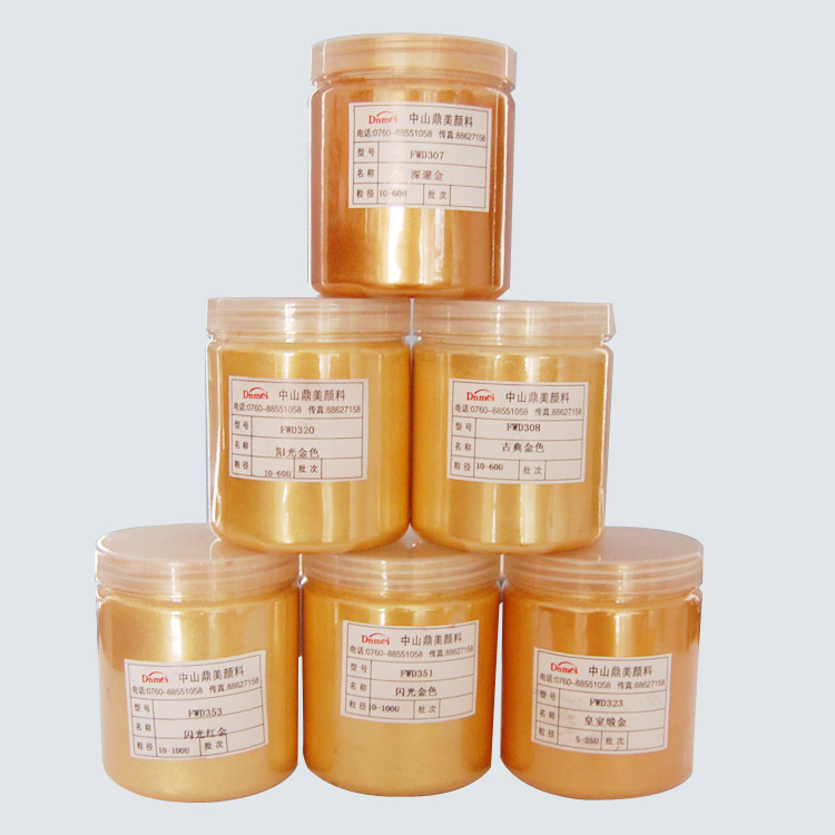 Diamond Gold Copper Powder Synthetic Mica Pigment For Makeup